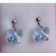 Náušnice Motýl Aquamarine