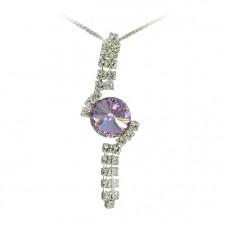 9. Štrasový náhrdelník Rivoli Violet