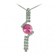 10. Štrasový náhrdelník Rivoli Rose
