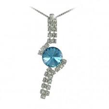 7. Štrasový náhrdelník Rivoli Aquamarine
